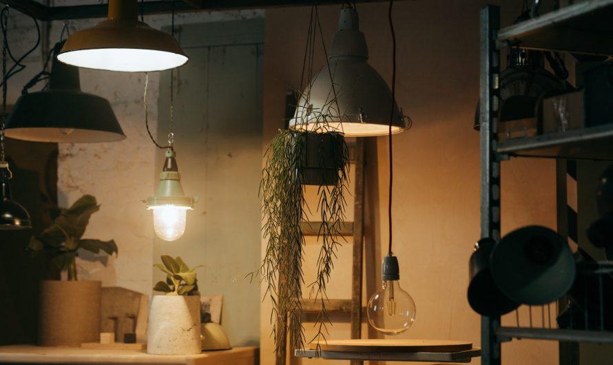 Verschillende soorten tafellampen